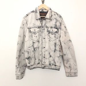 Rock Revival Mens Jean Jacket Marble XL NEW